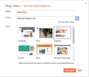 blog açmak