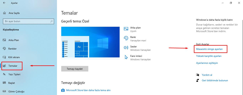 Bilgisayarım Simgesini nasıl değiştirebilirim